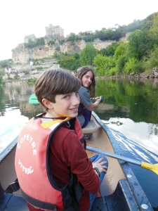 Canoing on the Dordogne River