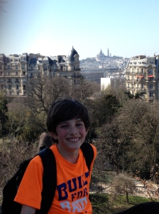 Ethan with Sacre Coeur in the distance