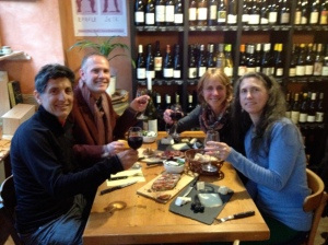 Mandy, Cameron, Jim and myself at our favorite local wine bar.