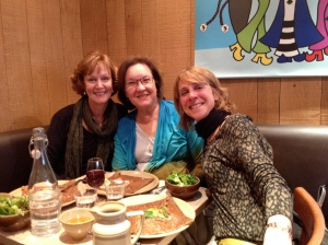 Carol. Judy and I enjoying dinner and dessert of galettes and crepes.